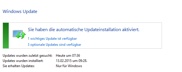 WindowsUpdate automatische Updates