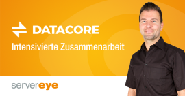 Data Core Zusammenarbeit mit Server-Eye