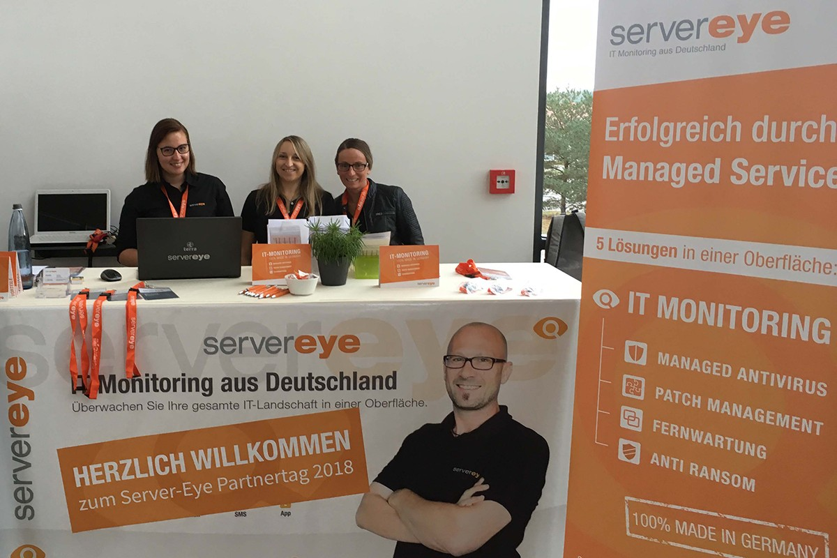 Server-Eye Partnertag Anmeldetheke